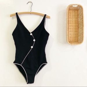 Vintage 1990s One Piece Swimsuit w/ Buttons